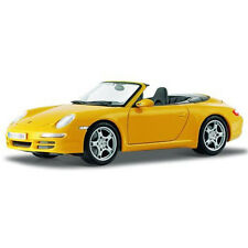 Maisto Porsche 911 997 Carrera S Cabriolet 1:18 Diecast Model Car Yellow