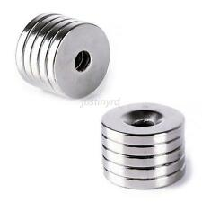 Vogue 5pcs 20x3mm Neodymium Disc Super Strong Earth Magnets With Holes 5mm