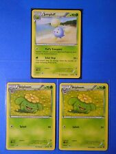 Jumpluff 5/114, 3x Skiploom 4/114 Pokemon TCG card XY Steam Siege NM