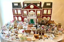 Sylvanian Regency (Grand) Hotel/House Bundle Furnished/Staff 24 Figures Calico