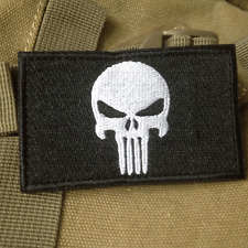PUNISHER SKULL SWAT OPS USA ARMY MILITARY TACTICAL VELCRO MORALE PATCH BLACK