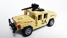Custom LEGO MOC Military Humvee M1025 in tan with sticker