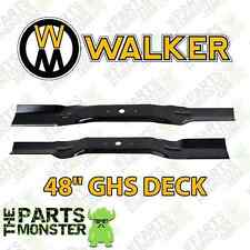 "WALKER MOWER BLADES FOR 48"" GHS DECK / REPLACES 7705-1, 7705-2 / 91-918 & 91-917"