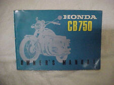 1969 HONDA CB750 Owner's Manual Vintage