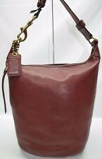 Coach Rare Legacy Bleeker XL Burnished Leather Bucket Zip Duffle Bag 11423