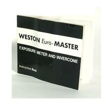 WESTON EURO MASTER LIGHT METER MANUAL