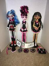 Monster High Fearleading Cheer Squad Ghoulia Cleo Draculaura DISCONTINUED