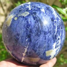 3LB 5.9OZ Natural Sodalite Jasper Crystal Sphere Ball