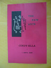 The New Arts Theatre 1st Performance 1963- M Codron's CINDY ELLA or I GOTTA SHOE