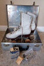 Vintage Chicago Velvet-Tread Gilash Leather roller Skates