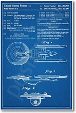 Star Trek - Starship Enterprise Patent - NEW Invention Patent Movie Art POSTER