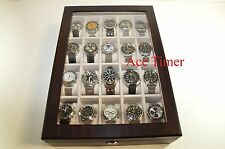 20 Watch (Premium Series) 1 Level Ebony Display & Storage Case Box + Gift