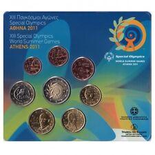 manueduc   GRECIA  2011 BLISTER  OFICIAL con 2 EUROS    SPECIAL OLYMPICS  NUEVO