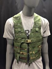 US MILITARY WOODLAND CAMO FIGHTING LOAD CARRIER FLC TACTICAL VEST MOLLE II