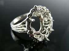 5718 RING SETTING STERLING SILVER 16X12MM OVAL RING SIZE 10