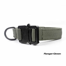 Military Tactical Training Service Dog 1 Inch  Metal Buckle Collar 9 Colors