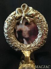 Brass Wreath Picture Frame Stocking Hook Holder New
