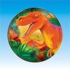 Prehistórico Dinosaurio 8 grandes platos de papel colorido Chicos Fiesta De Cumpleaños Comida Divertida
