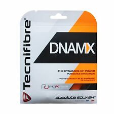 TECNIFIBRE dnmax-Nero-Squash STRING-set - 1.15mm/18g-GRATIS UK P & P