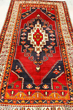 Henna Dyes  1900-1939s 4'3''x8'10'' Tent -Woven Multi-Colored  Wool Pile  Rug