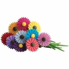 Trudeau Silicone Daisy Flower Wine Charms / Drink Markers - Set of 12