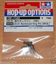 Tamiya 54102 CR-01 Reinforced King Pin (4 Pcs.) (CR01/Crawler/Bronco/Unimog) NIP