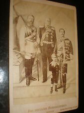 Old cabinet photograph Germany Emperor Wilhelm I Frederick and Wilhelm c1880s