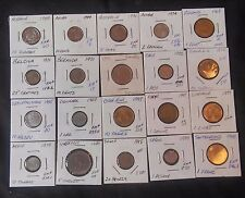 WORLD COIN GROUP LOT OF 20 DIFFERENT (COINS FROM ACROSS THE WORLD) ((m23))