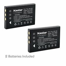 2x Kastar Battery for Fujifilm NP-60 RICOH Caplio 300G 400G G3 G4 wide RR10