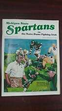 Michigan State Spartans vs Notre Dame Golic Football 1984 Vintage Program J39731