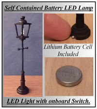 1/12 Working LED Battery (no wiring Needed) Dolls House Lamp Post Light LGW
