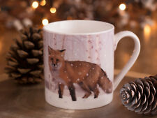 SNOW scene PORCELLANA TAZZA FOX