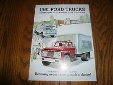 1961 Ford Convential & Tilt Cab F-750 F-800 C-750 C-800 Sales Brochure