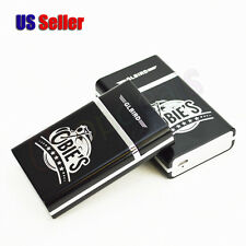USB Rechargeable Electronic Lighter Built-in Metal Cigarettes Case Holder