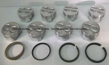Chevy 350/5.7 Sealed Power/Federal Mogul Cast Flat Top Pistons+CAST Rings +20