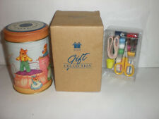 AVON SEW TO GO SEWING KIT IN MICE THEME DECORATIVE TIN NEW IN BOX