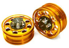 ALL TAMIYA 1/14 TRACTOR TRAILER FRONT WHEEL  INTEGY C27021GOLD