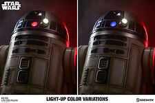SIDESHOW Star Wars R2-D2 Life Size 1:1 Scale Figure Statue LIGHTS UP! FREE SHIP!