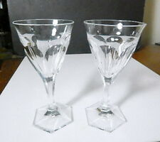 Moser Crystal ADELA MELIKOFF White Wine Glasses, Pair