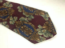 Mens Red Brown Gray SILK Tie Necktie ROOTS~ FREE US SHIP (10984)