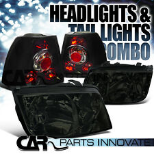 For 1999-2005 VW Jetta Bora Mk4 Smoke Headlights+Built In Fog DRL w/ Tail Lamps