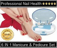 Bio Rotational Electric Powered Nail Manicure & Pedicure Set Finger & Toe Nails