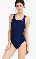 [91 77] Nike Womens Midnight Navy Blue Racerback One Piece Swimsuit Swiming 20