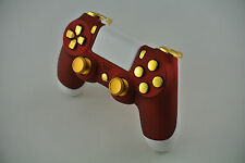 Sony Playstation Dualshock PS4 Wireless Controller Custom Red/Gold Chrome