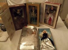 MATTEL HALLMARK AVON LOT OF BARBIES HOLIDAY HOMECOMING COLLECTION WINTER VELVET