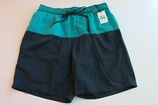 Calvin Klein -L- Men's Mesh Lined Board Shorts Swim Trunks Navy Blue Teal NWT
