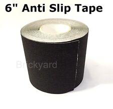 "6"" x 60' BLACK Roll Safety Non Skid Tape Anti Slip Tape Sticker Grip Safe Grit"