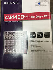 Phonic AM440 4 Mic/Line 4 Stereo Input Compact Mixer