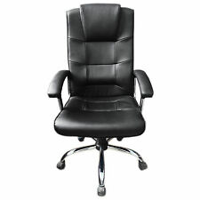Black Berlin Office Chair Business Faux Leather swivel executive computer P37