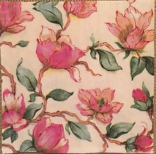 2 single paper napkins Decoupage Scrapbooking Collection Serviette Shabby Flower